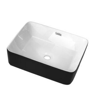 Cefito Ceramic Bathroom Basin Sink Vanity Above Counter Basins Bowl Black White