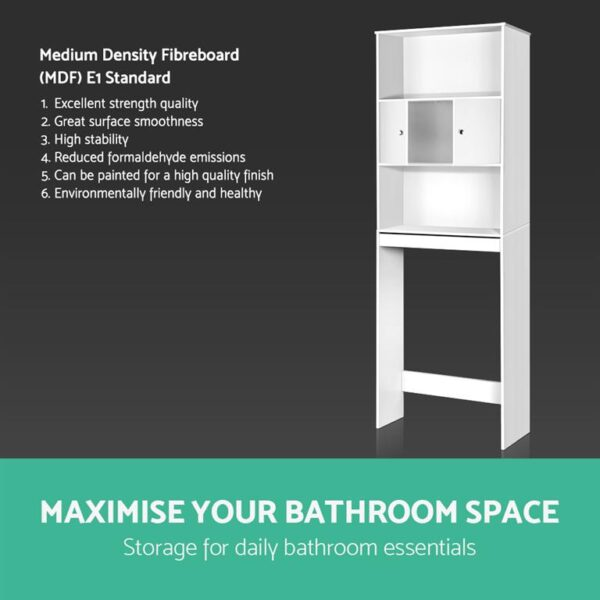 Artiss Bathroom Storage Cabinet - White