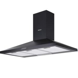 Devanti Range Hood Rangehood 90cm 900mm Kitchen Canopy LED Light Wall Mount Black
