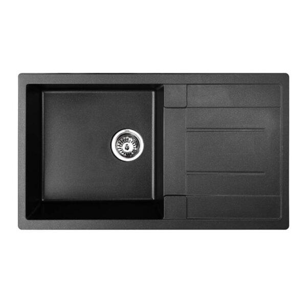 Cefito 860 x 500mm Granite Stone Sink - Black